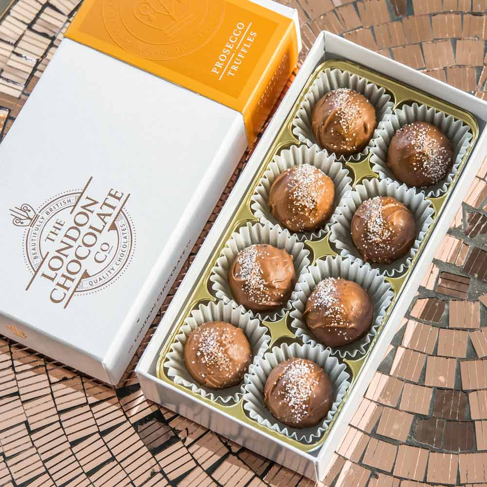 Luxury Prosecco Chocolate Truffles Gift Box - Click Image to Close