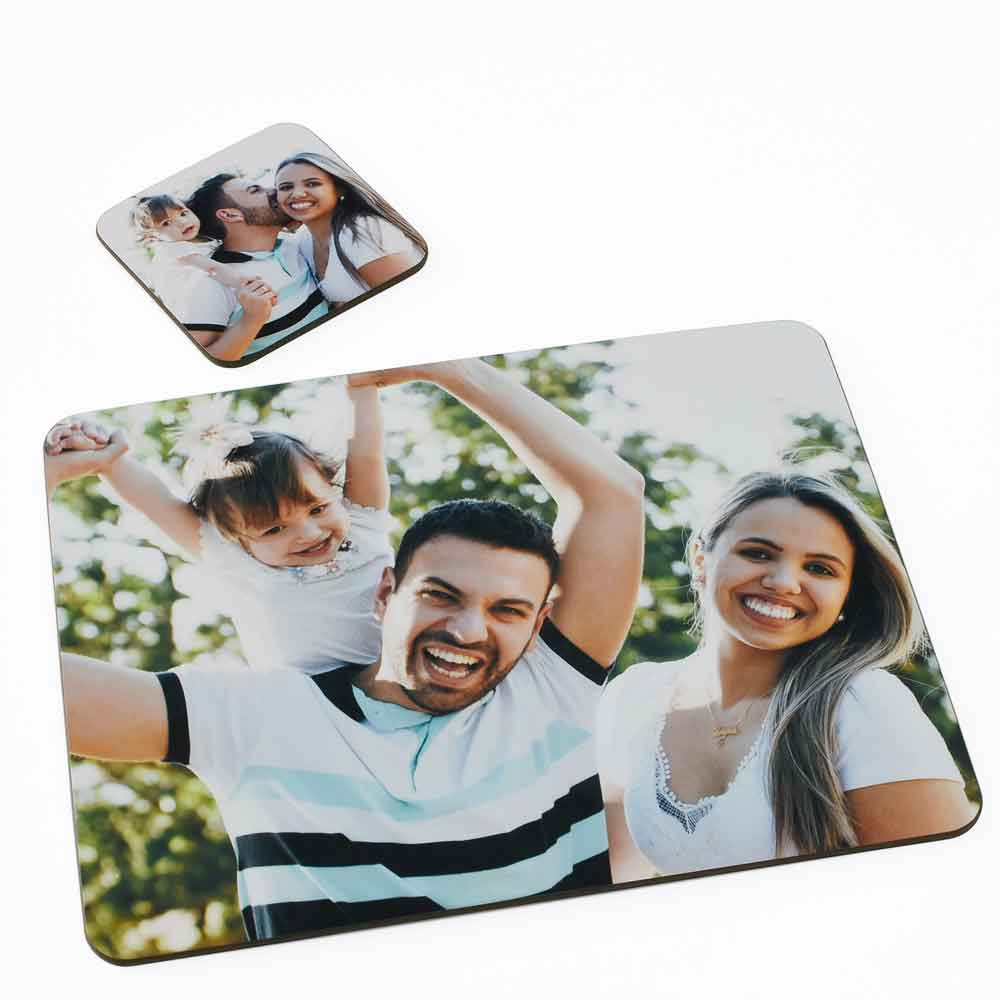 Personalised Coaster and Placemat Photo Set