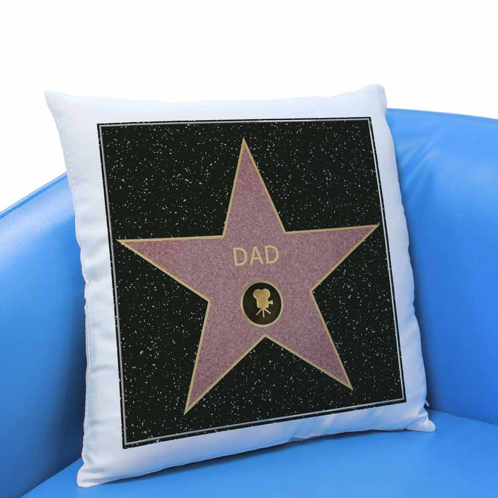 Personalised Cushion - Hollywood Walk Of Fame - Click Image to Close
