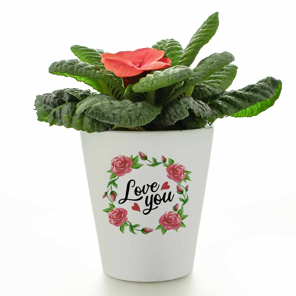 Personalised Flower Pot - Love You Wreath - Click Image to Close