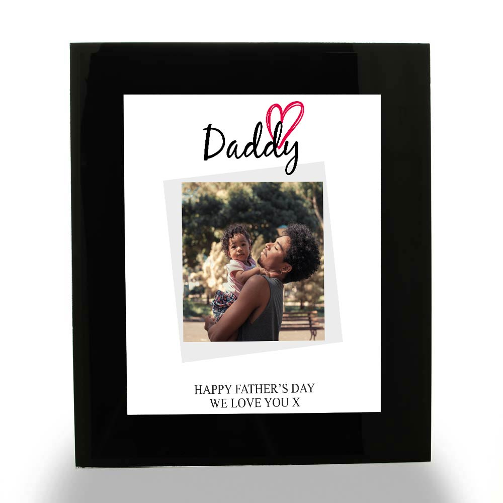Personalised Photo Upload Framed Print - Daddy - Click Image to Close