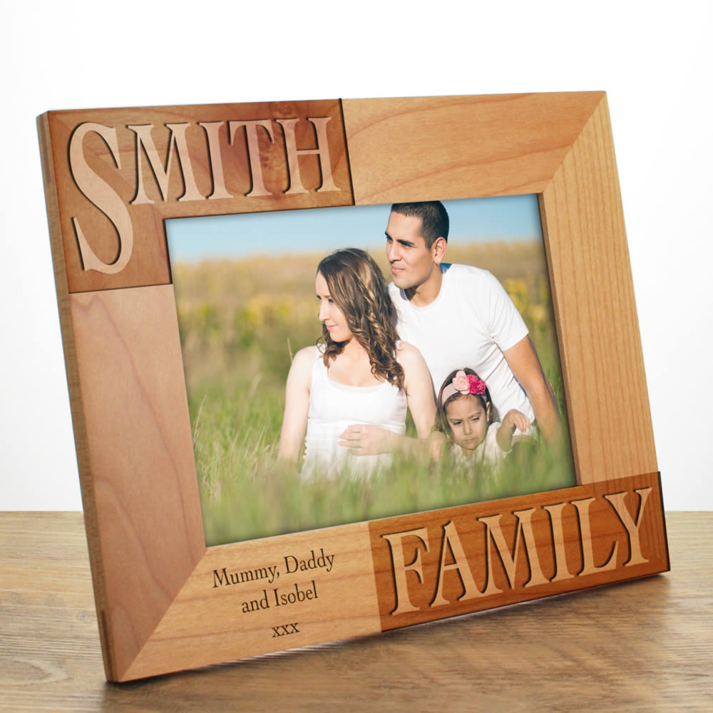 Personalised Family Photo Frame Engraved By Keep It Personal