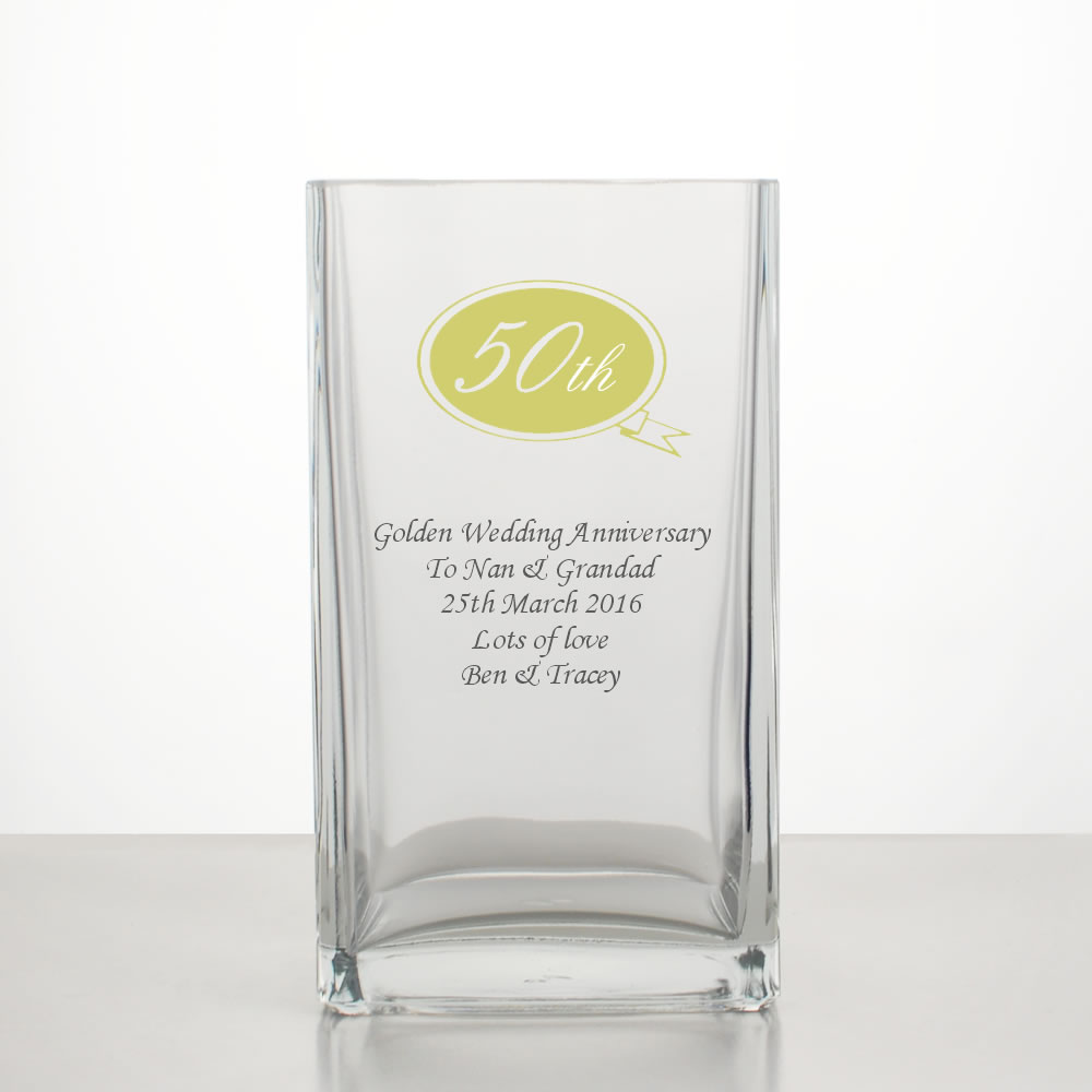 golden wedding anniversary vase 50th anniversary gifts. Black Bedroom Furniture Sets. Home Design Ideas
