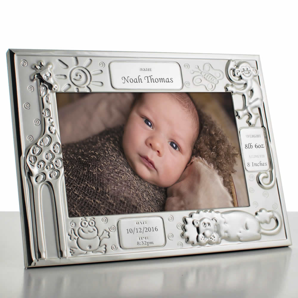 Baby Photo Frame Noahs Ark Theme - Click Image to Close