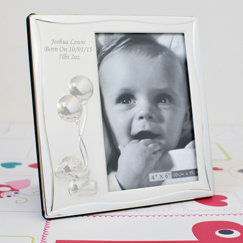 Engraved Baby Photo Frame Ideal Baby Gifts - baby-photo-frame-balloons_LRG
