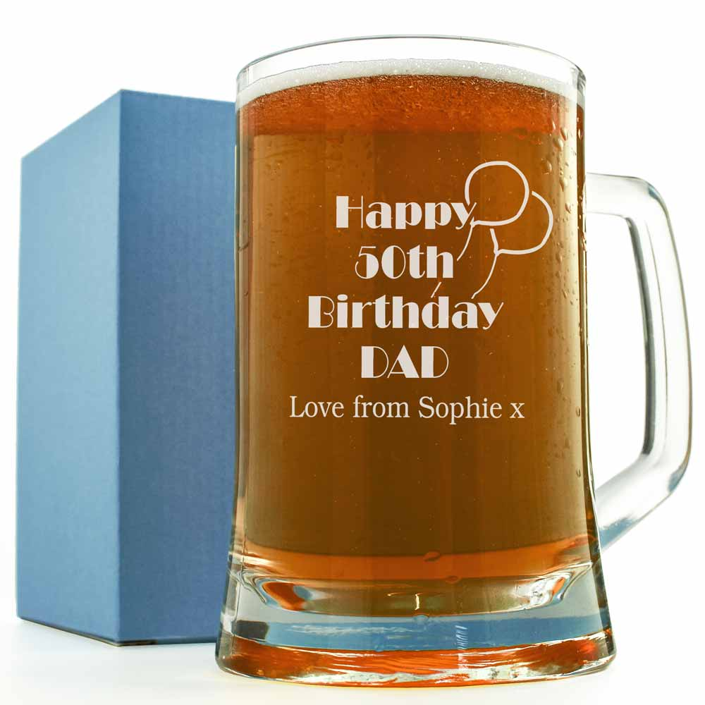 Engraved Pint Glass Birthday Gift 18th 21st 30th 40th Gift