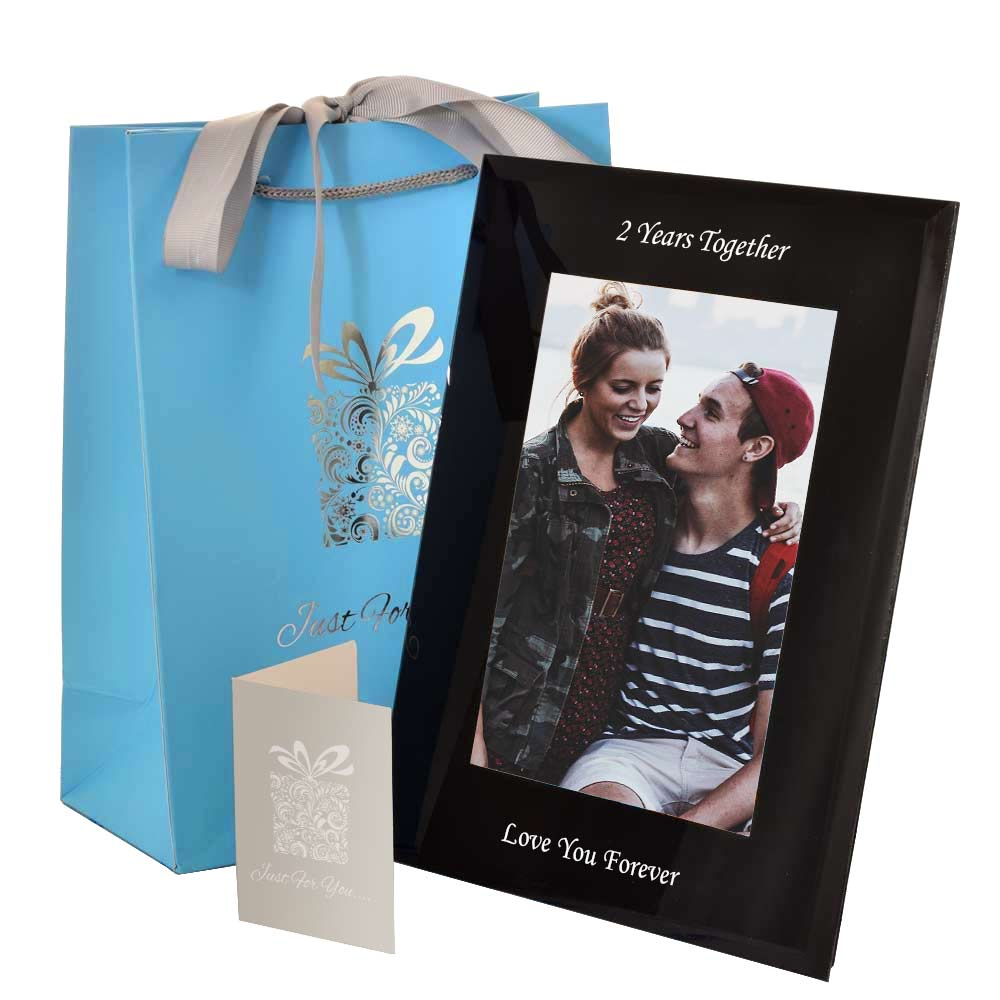 Personalised photo frames engraved by keepitpersonal personalised black glass photo frame jeuxipadfo Choice Image