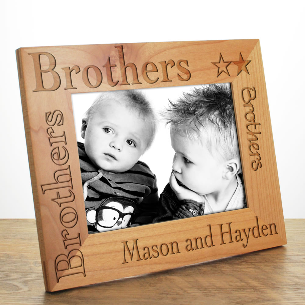 brothers photo frame personalised