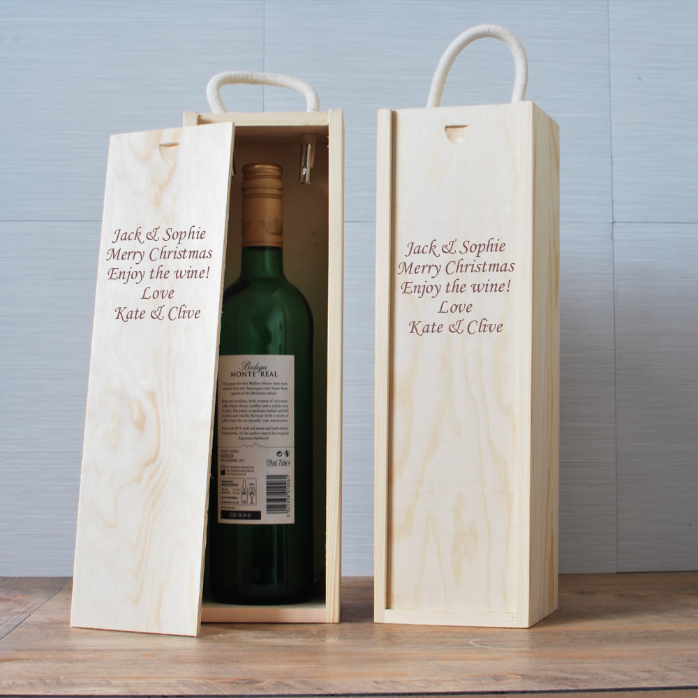 Personalised Wine Box Next Day Delivery