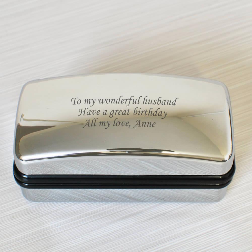 Personalised Cufflink Presentation Box Next Day Delivery