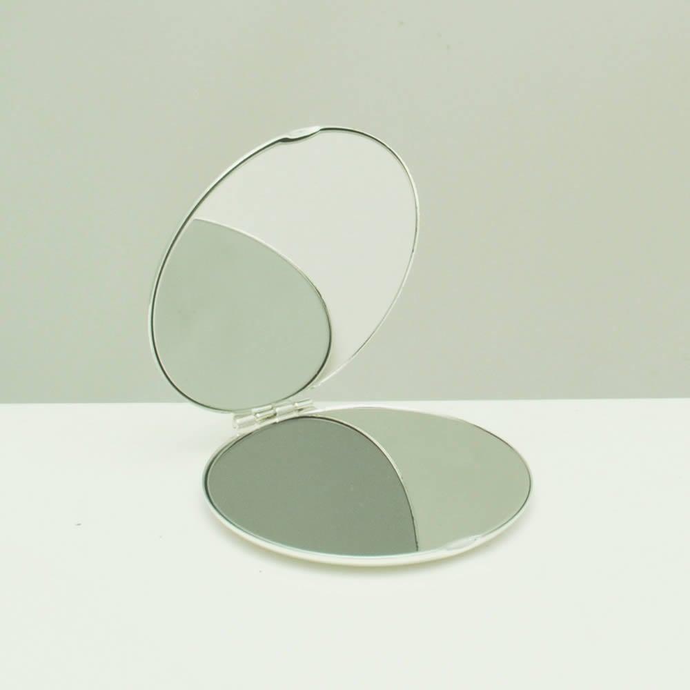 Silver Personalised Compact Mirror With Diamante Crystals