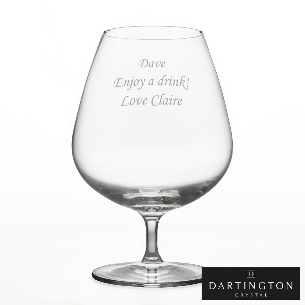 Personalised Brandy Glass - Click Image to Close
