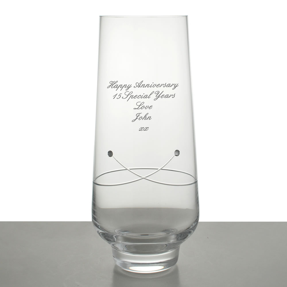 Personalised Diamante Celebration Vase