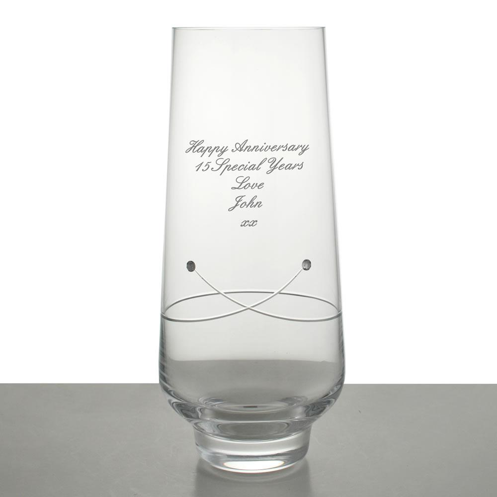 Personalised Diamante Celebration Vase