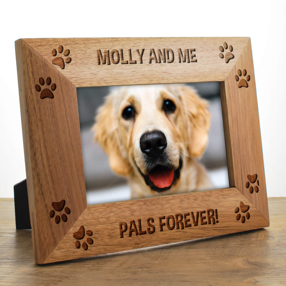 Dog Photo Frames Personalised. Zoom