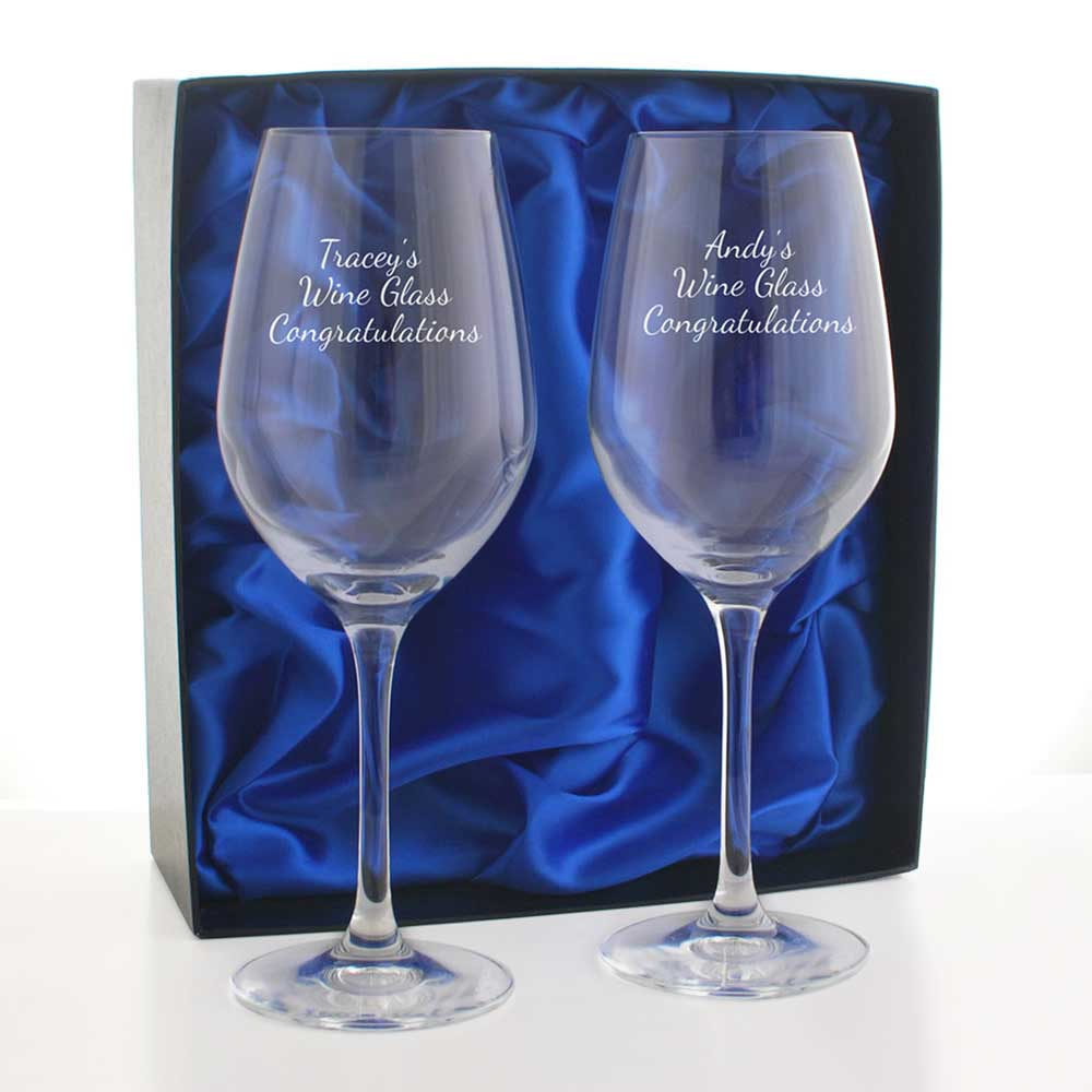 Personalised Wine Glass Set By Dartington Crystal