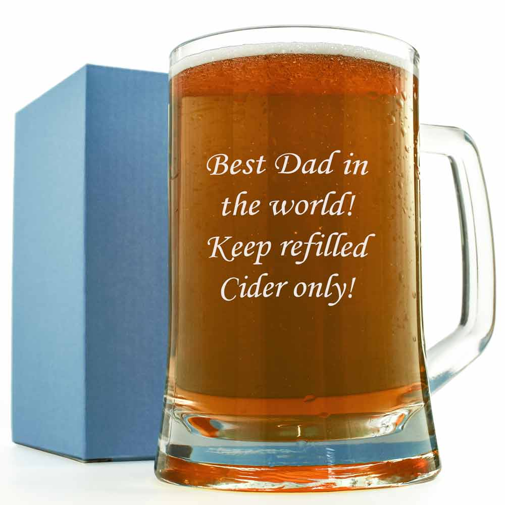 Engraved Glass Tankard Engrave Any Message Or Logo On A