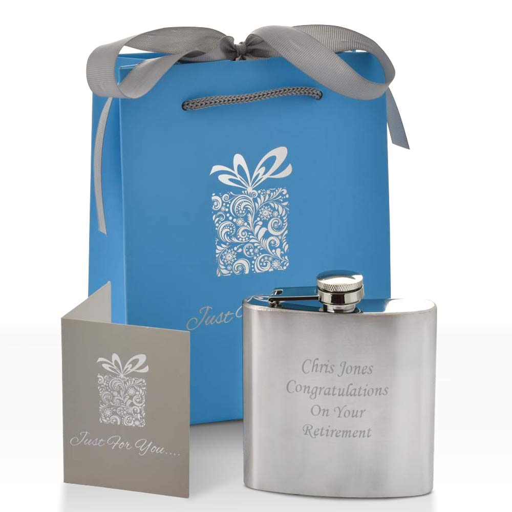Personalised Hip Flask Stainless Steel