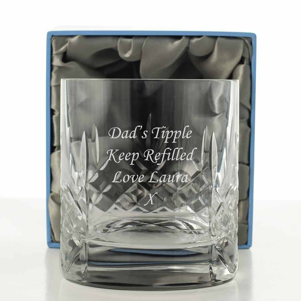 Mayfair 24 Lead Crystal Engraved Whisky Glass