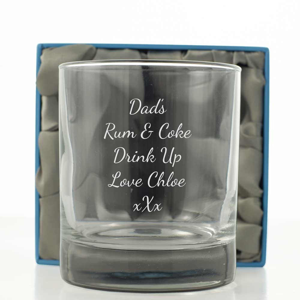 Engraved Stern Whisky Glass
