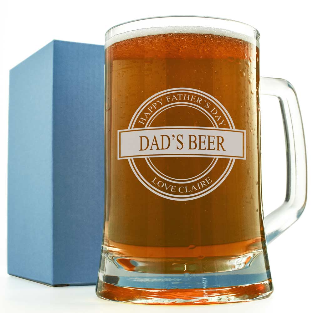 Excellent Personalised Father's Day Pint Glass Gift YT87