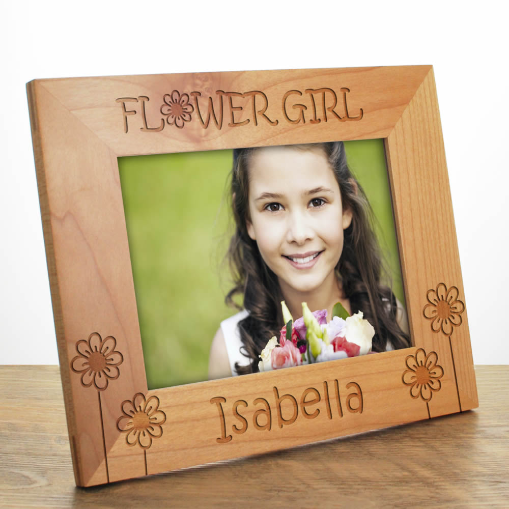 Personalised Flower Girl Photo Frame - Exclusive Design