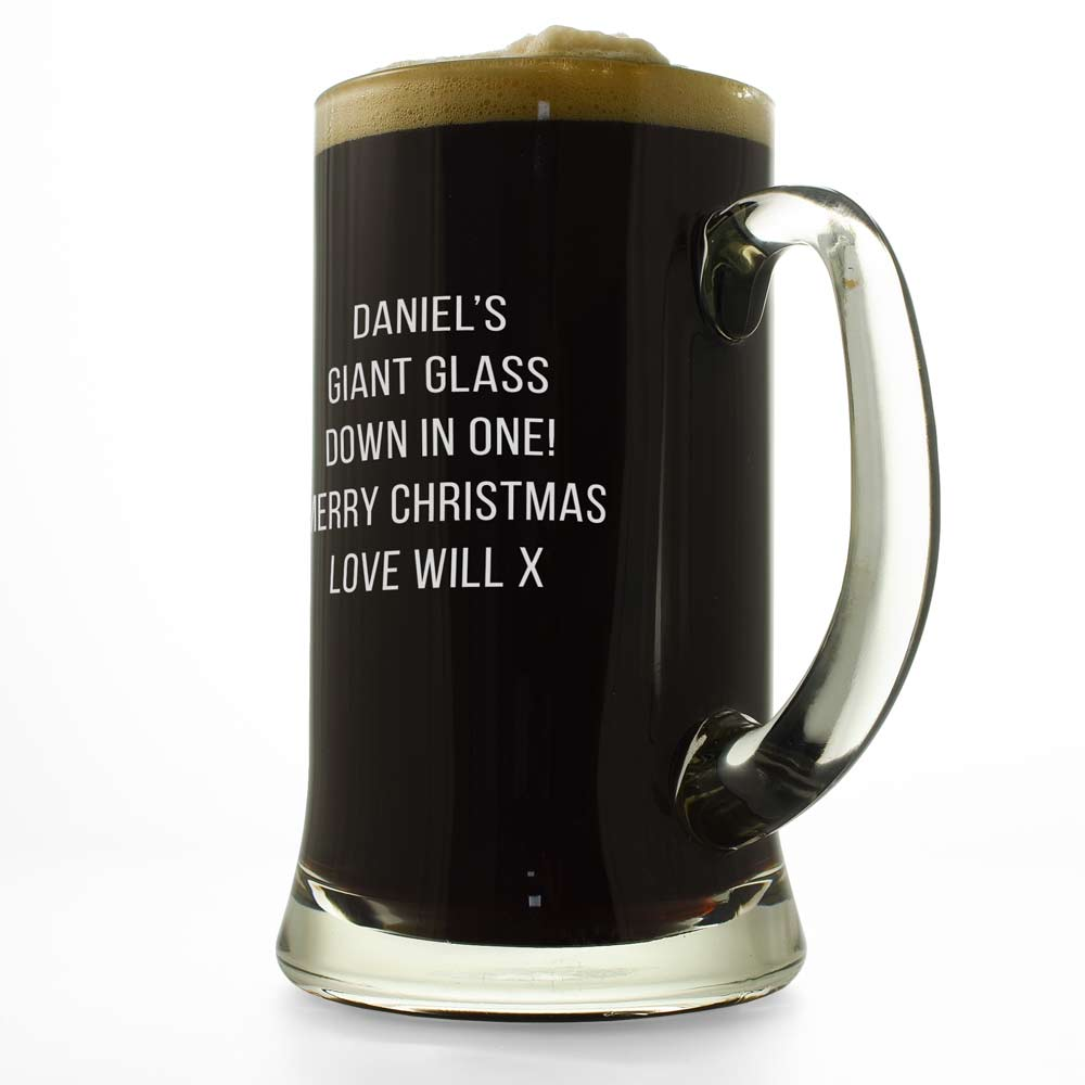 Personalised Giant Beer Glass | 2 1/2 Pint Glass Engraved