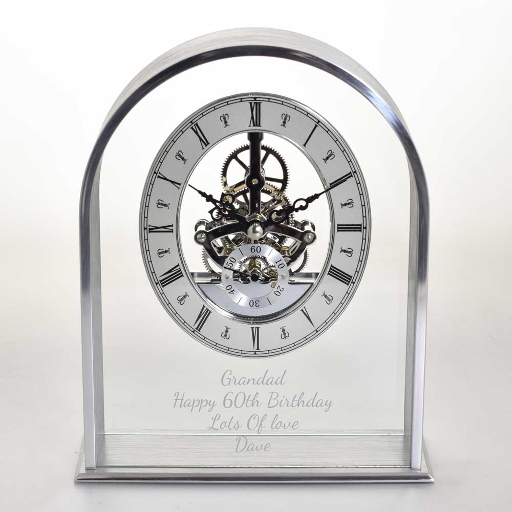 Contemporary Personalised Glass Clock