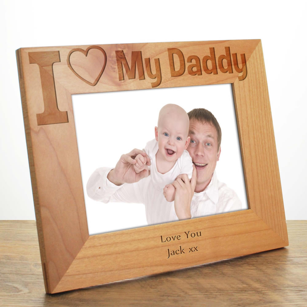 I Love My Daddy Photo Frame Father's Day Gift For Dad