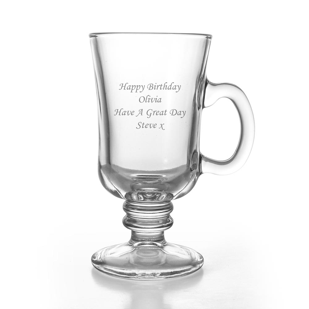 Irish Coffee Mug Engraved Irish Coffee Glass