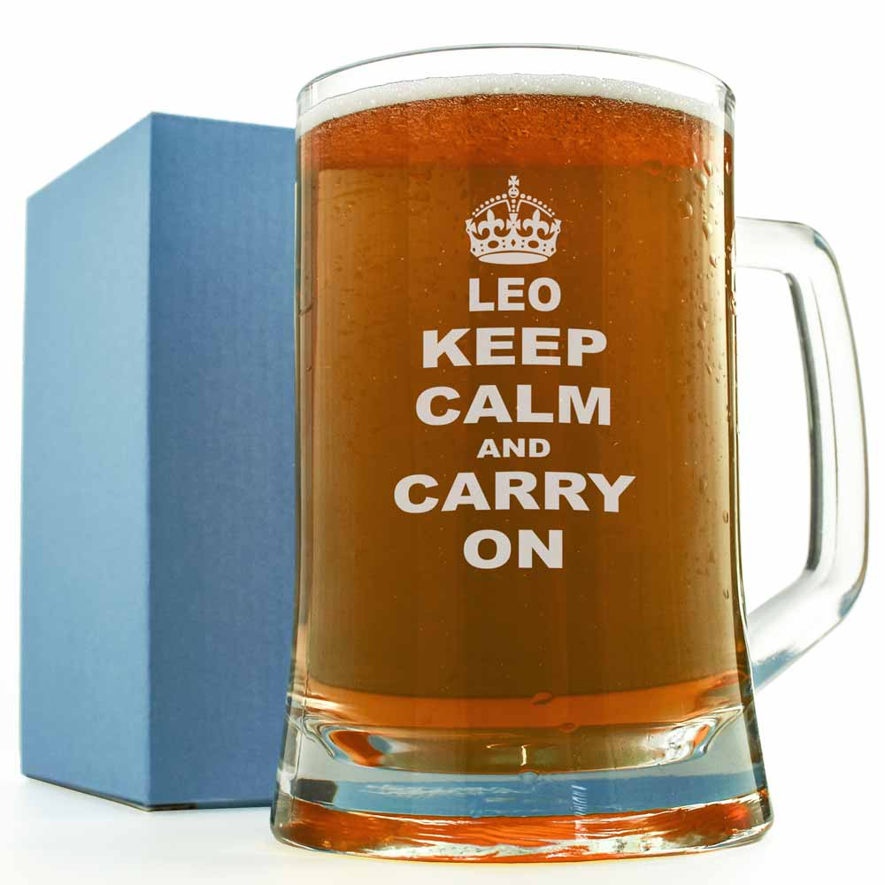 Keep Calm And Carry On Pint Glass Keepitpersonal Co Uk