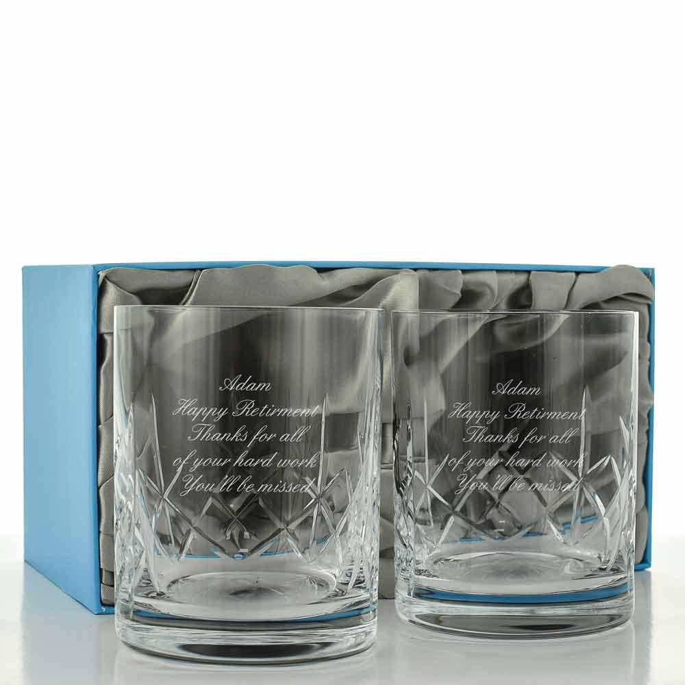 Personalised Whisky Glass Set Engraved By Keep It Personal