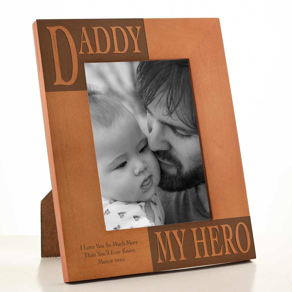 personalised my daddy photo frame engraved next day delivery. Black Bedroom Furniture Sets. Home Design Ideas