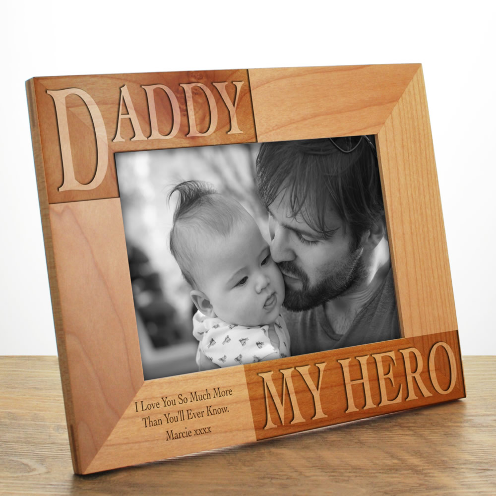 Personalised My Daddy Photo Frame Engraved Next Day Delivery