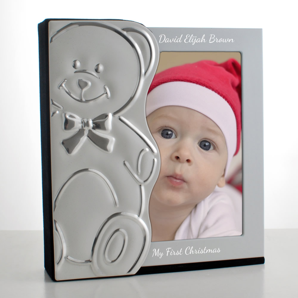 my first christmas photo album personalised baby photo gift