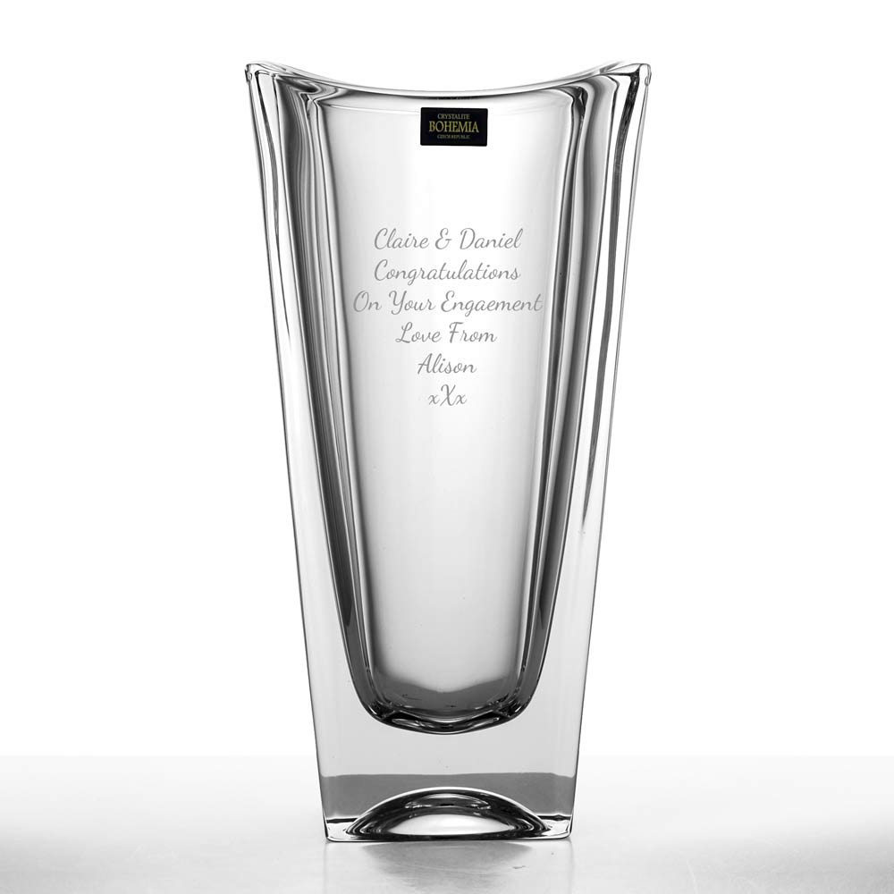 Engraved Okinawa Crystal Vase Personalised By