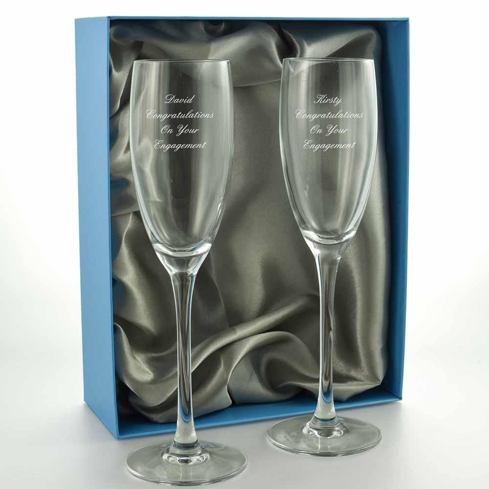 Pair Of Personalised Champagne Flutes - Click Image to Close