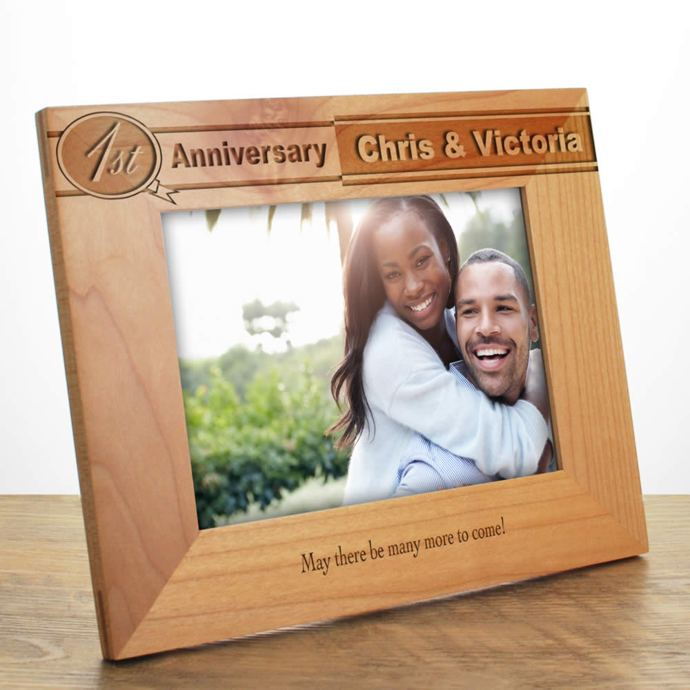 Personalised Anniversary Photo Frame 5th Anniversary Gifts