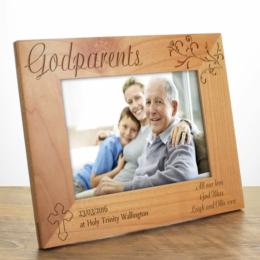 engraved christening photo frame - Engraved Picture Frame