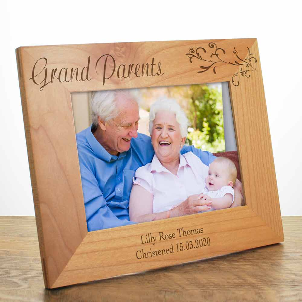 Personalised Grandparent Photo Frame Engraved Photo Frame For
