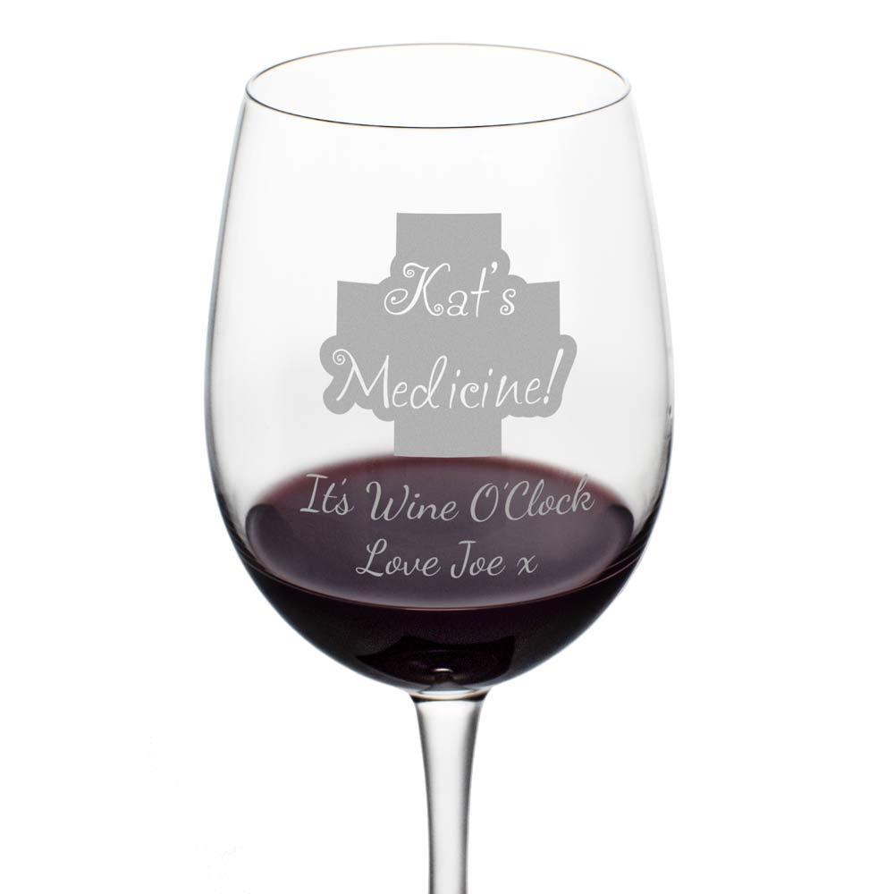 personalised wine glass medicine huge wine glass. Black Bedroom Furniture Sets. Home Design Ideas