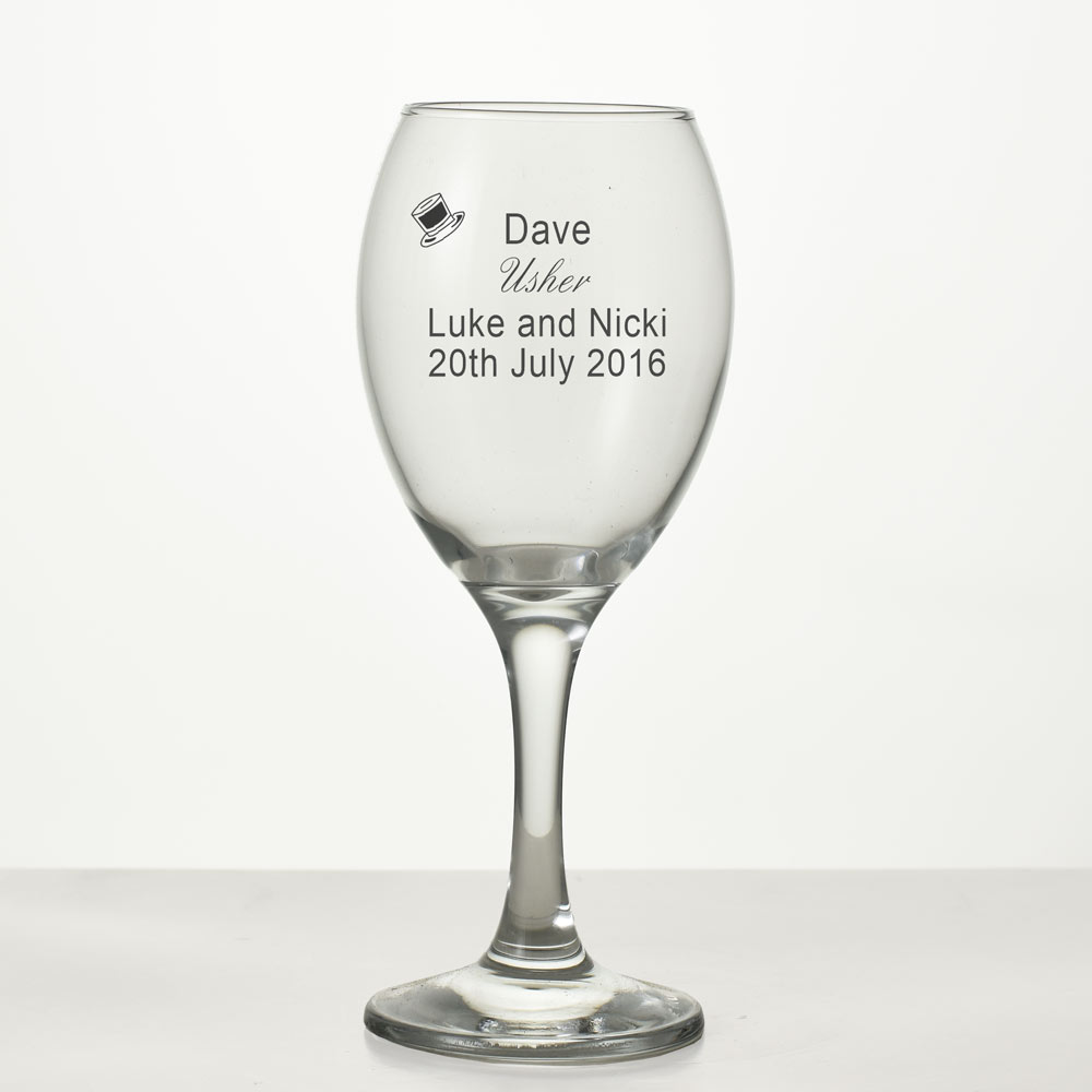 Engraved Wedding Wine Glass An Ideal Bridesmaid Gift
