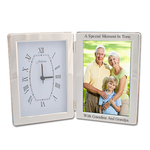Clock Photo Frame Engraved And Personalised