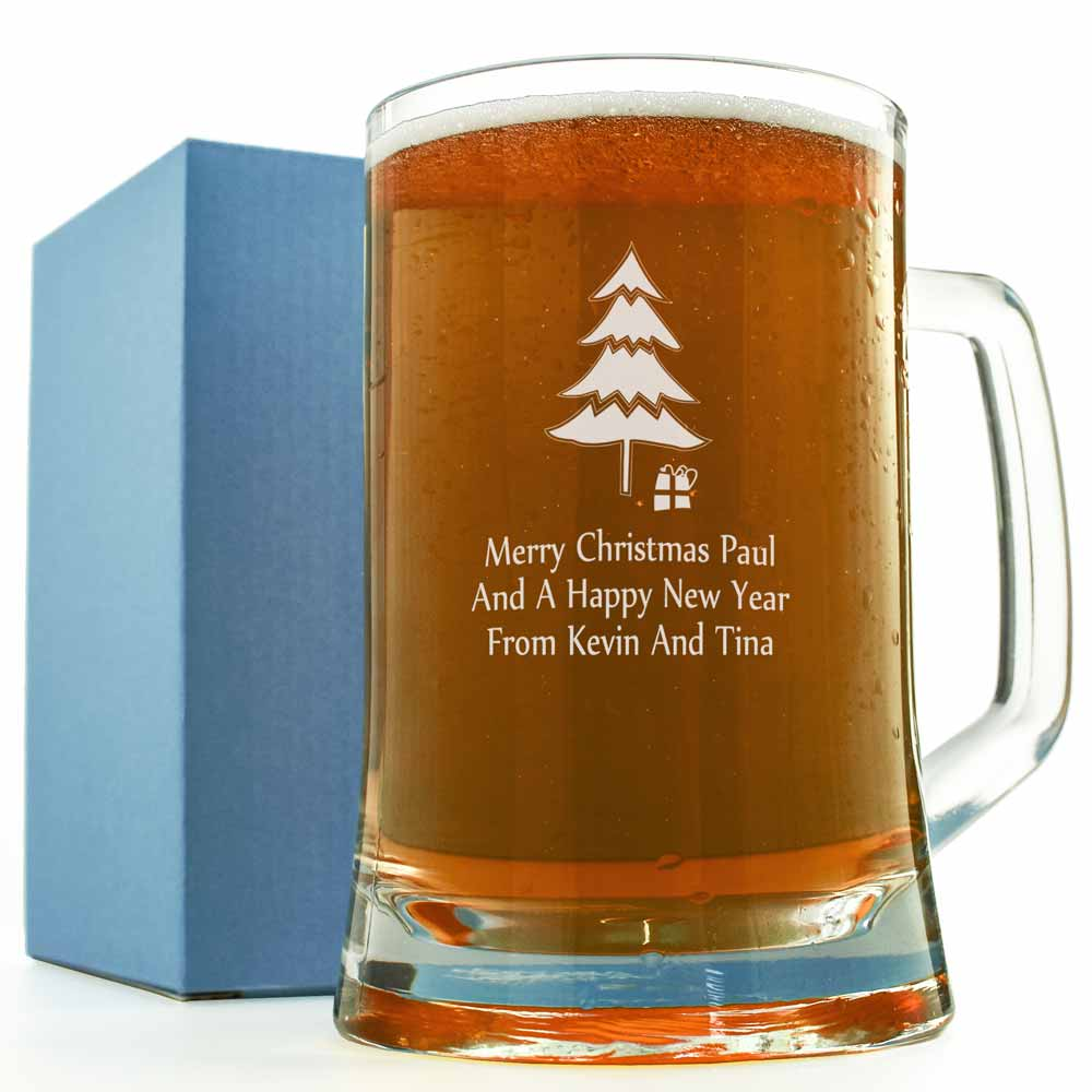 Christmas Pint Glass Personalised And Engraved Just 163 12 95
