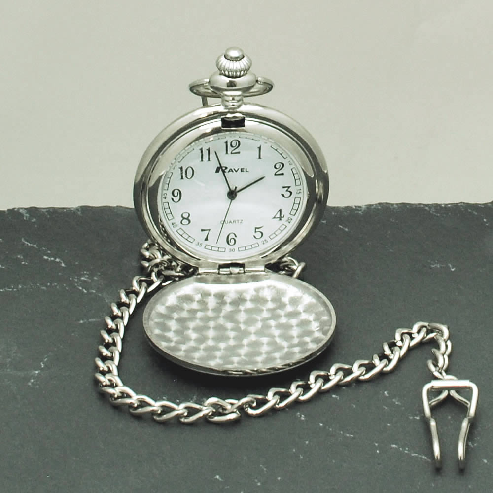 Personalised Pocket Watch Engraved Wedding Gift Best Man Usher