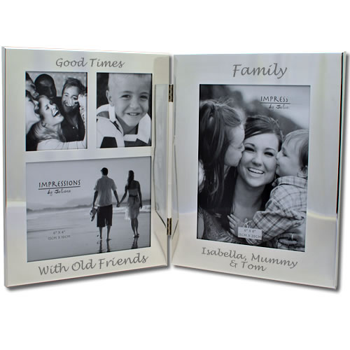 Personalised Silver Family Photo Frame Next Day Delivery
