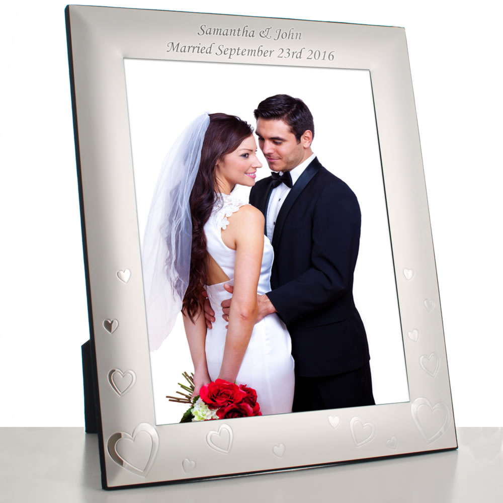 here home weddings wedding photo frames love heart photo frame