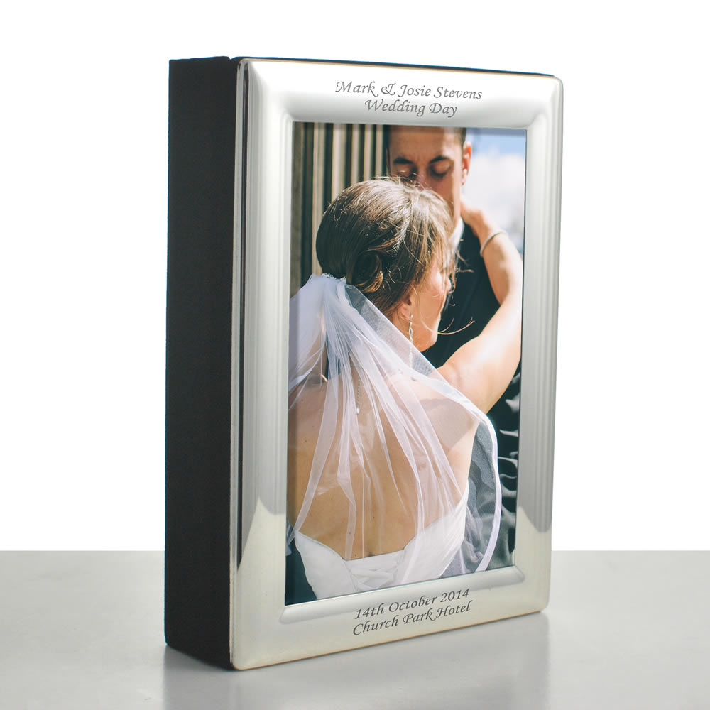 Silver Personalised Photo Album 6x4