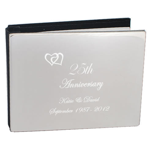 25th Silver Wedding Anniversary Photo Album Personalised