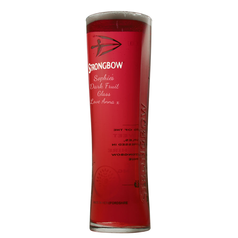 Personalised Strongbow Glasses